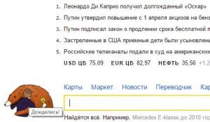 Яндекс и Медвед любят Ди Каприо, Ди Каприо любит Оскар